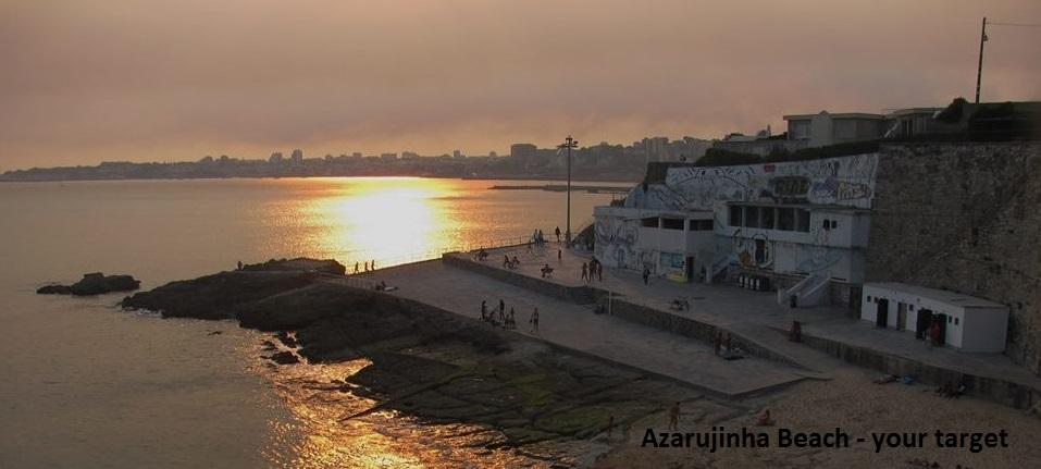 azarujinha beach the target
